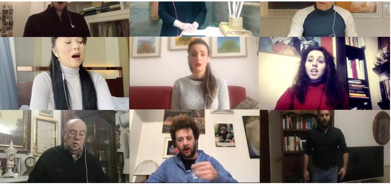 Chœur virtuel – «Va pensiero» («Nabucco» de G. Verdi) – International Opera Choir