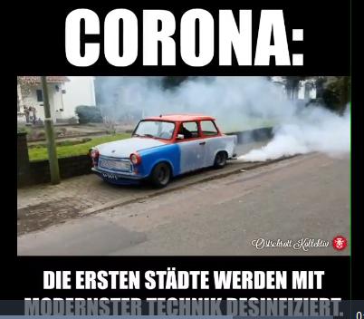 désinfection des rues en Allemagne
