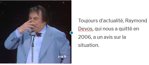 Raymond Devos : un avis sur la situation